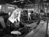 Female Workers Sharpening Saw Blades at Slack Sellars and Co, Sheffield, South Yorkshire, 1963 Photographic Print by Michael Walters