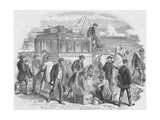 The Red Cross Society at Work Outside Paris, 1870, (1884) Giclee Print