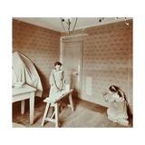 Housewifery Lesson, Denmark Hill School, Dulwich, London, 1908 Photographic Print
