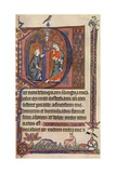 An Illuminated Page from the Vaux-Bardolf Psalter, C1310, (1937) Giclee Print