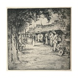 Along the Quay, 1915 Giclee Print by Vaughan Trowbridge