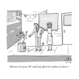 """Business isn't great. We could only afford the smallest air dancer."" - New Yorker Cartoon Premium Giclee Print by Farley Katz"