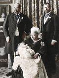 The Future King Edward Viiis Christening Day, 16 July 1894 Photographic Print