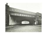 Railway Bridge across Globe Road, Bethnal Green, London, 1914 Photographic Print