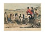 Hunting the Hounds, 1865 Giclee Print by John Leech