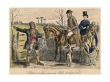 Fresh as a Four Year Old. Went Off Like a Shot, 1865 Giclee Print by John Leech