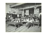 Relaxing in the Social Hall, Cosway Street Evening Institute for Women, London, 1914 Photographic Print