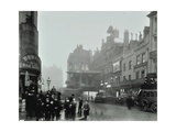Crowd of People in the Street, Tottenham Court Road, London, 1900 Photographic Print