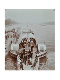 Passengers on the London Steamboat Service, River Thames, London, 1907 Photographic Print