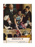 Craven a Cork-Tipped Virginia Cigarettes, 1937 Giclee Print