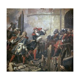 Louis XIV Leads the Assault of Valenciennes, 17th Century Giclee Print by Jean Alaux