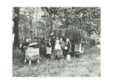 Children Feeding Bees for the Winter, Shrewsbury House Open Air School, London, 1909 Photographic Print