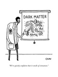 """""""We're quietly confident that it smells of cinnamon."""" - New Yorker Cartoon Premium Giclee Print by Tom Chitty"""
