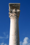 Cross Inscribed on a Column, Apollonia, Libya Photographic Print by Vivienne Sharp