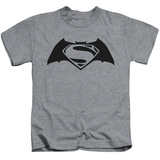 Juvenile: Batman vs. Superman- Black Logo Shirts