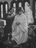 Preparations for Christmas Pageant at Bryn Mawr Community Church and at Orphanage Photographic Print by Francis Miller