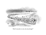 """Did I remember to close the drawbridge?"" - New Yorker Cartoon Premium Giclee Print by Bob Eckstein"