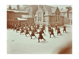 Girls Doing Drill in the Playground, Wilton Road School, London, 1907 Photographic Print