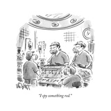Surgeons operate on a patient. - New Yorker Cartoon Premium Giclee Print by Christopher Weyant