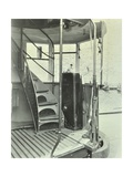 Interior of an Electric Tram Showing Driver Controls, 1931 Photographic Print