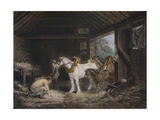 The Farmers Stable, (1791) 1901 Giclee Print by George Morland