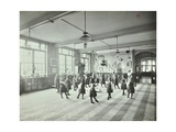 Girls Dancing around a Maypole, Hugon Road School, Fulham, London, 1907 Photographic Print