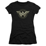 Juniors: Batman vs. Superman- Wonder Woman Tech Logo Shirts