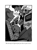 """But having less legroom puts you closer to your screen."" - New Yorker Cartoon Premium Giclee Print by William Haefeli"
