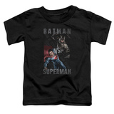 Toddler: Batman vs. Superman- Split Heroes Shirt