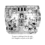 """I suspect a challenger from the right. Let's slaughter everyone on the ri..."" - New Yorker Cartoon Premium Giclee Print by Tom Toro"