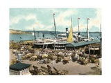Muelle De Luz Harbour with Ferries, Havana, Cuba, 1904 Giclee Print