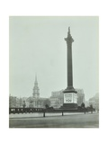 Nelsons Column with National Service Recruitment Poster, London, 1939 Photographic Print
