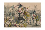 Terrific Combat Between Richard Coeur De Lion and Saladin, 1850 Giclee Print by John Leech