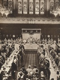 King George Vi and Queen Elizabeth Attending a Luncheon to Celebrate Coronation, 1937 Photographic Print