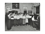 Singing Class, Laxon Street Evening Institute for Women, London, 1914 Photographic Print
