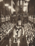 The Procession into the Abbey, 1937 Photographic Print