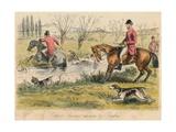 Captain Spurrier Cut Down by Romford, 1865 Giclee Print by John Leech
