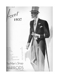 Harrods: the Mans Shop - Ascot 1937, 1937 Giclee Print
