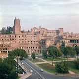View of Trajans Market from the Forum of Trajan Photographic Print by Apollodorus of Damascus