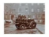 Firemen Aboard a Motor Steamer, London Fire Brigade Headquarters, London, 1909 Photographic Print