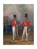 The Hon. Artillery Company-Officer and Private, 1848, (1914) Giclee Print by Henry Martens