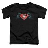 Toddler: Batman vs. Superman- Industrial Logo Shirts
