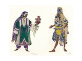 Costume Designs for the Russian Ballet Le Dieu Bleu, C1912 Giclee Print by Leon Bakst