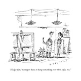 """Hedge-fund managers have to hang something over their sofas, too."" - New Yorker Cartoon Premium Giclee Print by Barbara Smaller"