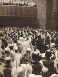 George Vi Is Crowned with St. Edwards Crown on the Day of His Coronation, 1937 Photographic Print