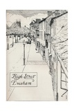 High Street Evesham, 19th Century Giclee Print by Edmund Hort New