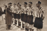 King George Vi and Queen Elizabeth Attend the Association Football Cup Final, 1937 Photographic Print