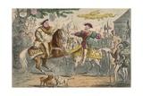 Henry Viii, Meeting Francis I, 1850 Giclee Print by John Leech