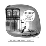 "A Stanley Kowalski type yells ""Stella, I'm here to take you to the airport... - New Yorker Cartoon Premium Giclee Print by Joe Dator"