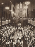 King George Vis Coronation Procession, Westminster Abbey, 1937 Photographic Print